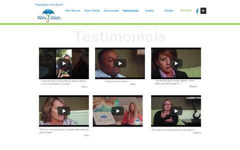 Screenshot of Testimonials Page win2ition.org - Testimonials | Win2ition™ - captured Nov. 6, 2017