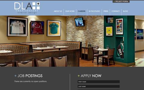 Screenshot of Jobs Page dlaplus.com - Careers   DLA+ Architecture & Interior Design - captured Nov. 18, 2015