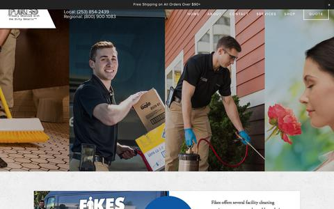 Screenshot of Services Page fikesproducts.com - Services — Fikes Products & Services - captured Aug. 13, 2018