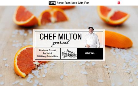 Screenshot of Home Page chefmilton.com - chef-milton-gourmet - captured July 20, 2015