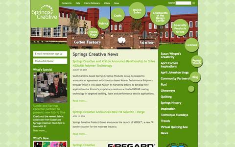 Screenshot of Press Page springscreative.com - News | Springs Creative - captured Oct. 9, 2014