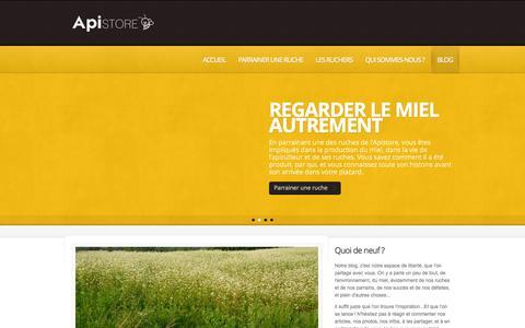 Screenshot of Blog apistore.org - Le blog de l'Apistore - captured Sept. 30, 2014