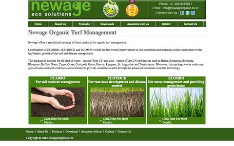 Screenshot of Products Page newageorganic.co.in - Natural Organic Lawn Fertilizer :: Newage Organic Lawn Treatment - captured Oct. 7, 2014