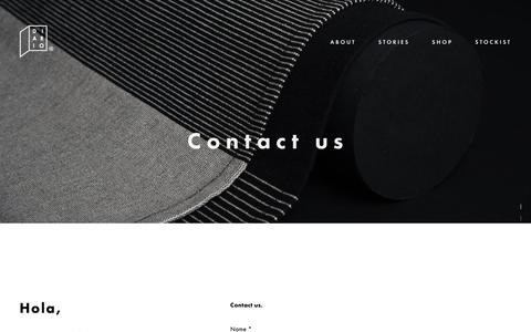 Screenshot of Contact Page diarioshop.com - C O N T A C T — DIARIO - captured Oct. 7, 2018