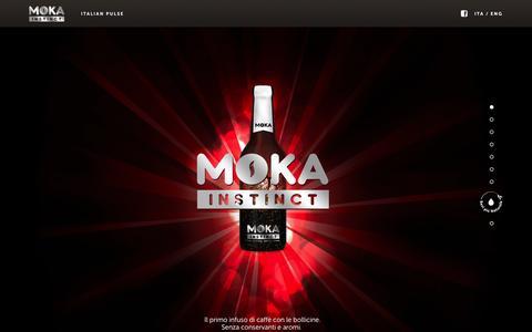 Screenshot of Home Page mokainstinct.com - Moka - captured Oct. 5, 2014