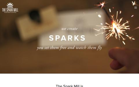 Screenshot of Home Page thesparkmill.com - The Spark Mill - handcrafted consulting - captured Sept. 30, 2014