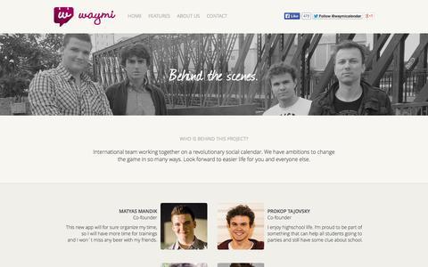 Screenshot of About Page waymi.com - About us | Waymi - captured Nov. 6, 2014