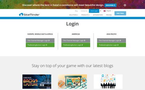 Screenshot of Login Page siteminder.com - Login - SiteMinder - captured Oct. 25, 2015
