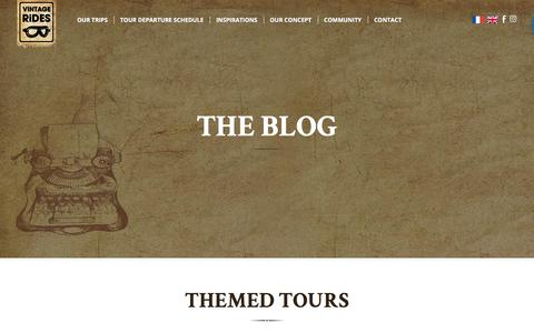 Screenshot of Blog Press Page vintagerides.travel - The blog - Vintage Rides - captured Sept. 20, 2018