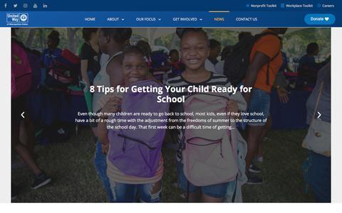 Screenshot of Blog unitedwaydallas.org - Blog | United Way of Metropolitan Dallas - captured Aug. 16, 2018