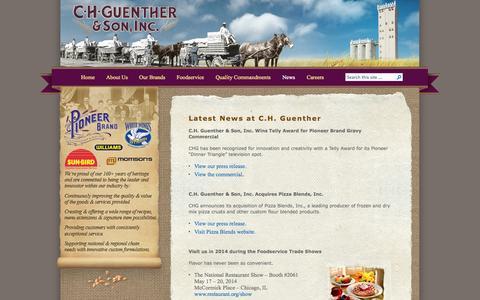 Screenshot of Press Page chg.com - C.H. Guenther & Son, Inc.   » News - captured Oct. 1, 2014