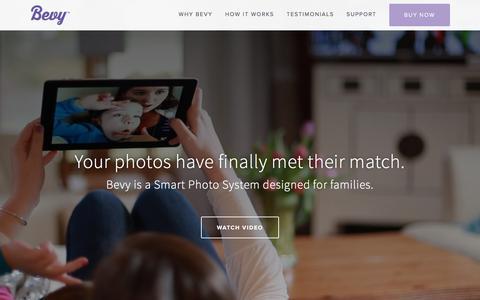 Screenshot of Home Page bevy.us - Bevy Ń Bevy Smart Photo System - captured Nov. 5, 2015