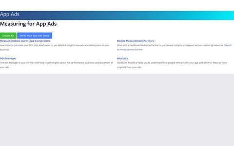 Measuring - App Ads - Documentation - Facebook for Developers