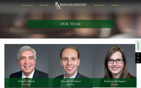 Screenshot of Team Page brodyandassociates.com - Our Team | Brody & Associates - captured Oct. 11, 2017