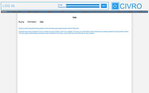 Screenshot of FAQ Page civro.com - Contact Civro - captured Sept. 26, 2014