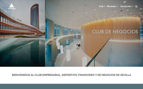 Screenshot of Home Page club-antares.com - Club Antares Sevilla | Club empresarial, financiero y de negocios - captured Oct. 2, 2018