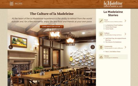 Screenshot of Blog lamadeleine.com - Stories - La Madeleine - captured Oct. 9, 2017