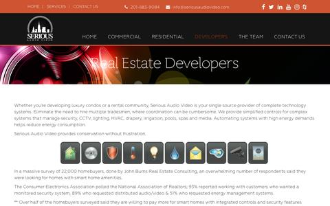Screenshot of Developers Page seriousaudiovideo.com - Real Estate Developers   Serious Audio Video - captured May 10, 2017