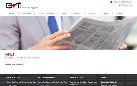 Screenshot of Press Page bntitalia.it - BnT Italia: News - captured Nov. 4, 2018