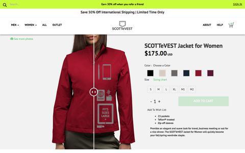 Women's RFID Travel Jacket - SCOTTeVEST