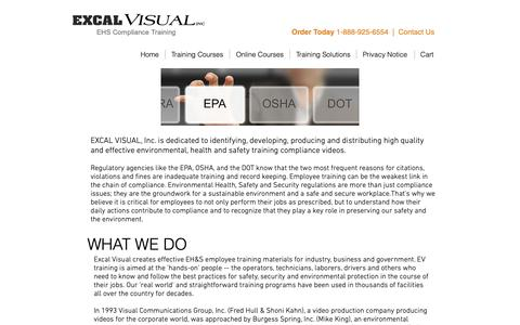 Screenshot of About Page excalvisual.com - Excal Visual - About Us - captured Sept. 29, 2018