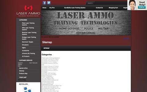 Screenshot of Site Map Page laser-ammo.com - Laser Ammo | TrainingTechnologies | Home Defense | Police | Military - captured Oct. 1, 2014