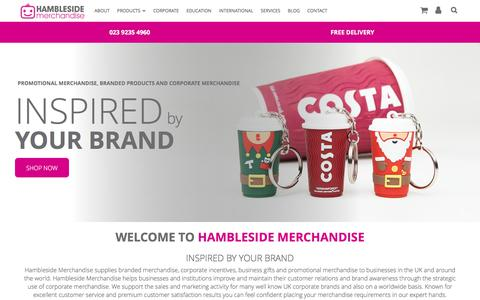 Screenshot of Home Page Site Map Page hambleside-merchandise.co.uk - Branded Corporate Merchandise & Promotional Items - Hambleside - Hambleside Merchandise - captured July 5, 2018
