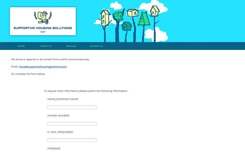 Screenshot of Contact Page supportivehousingsolutions.com - Supportive Housing Solutions - captured Oct. 7, 2014