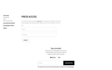 Screenshot of Press Page sarahpacini.com - Sarah Pacini - Press - captured Dec. 9, 2018