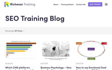 Screenshot of Blog seotraininglondon.org - Blog - Richman SEO Training - captured Sept. 27, 2018