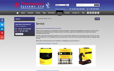 Screenshot of Support Page thermoteknix.com - Service - Thermoteknix Systems Ltd - captured Dec. 2, 2016
