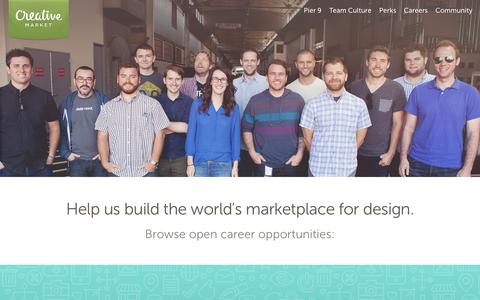 Screenshot of Jobs Page creativemarket.com - Come Work With Us ~ Creative Market - captured Oct. 28, 2014