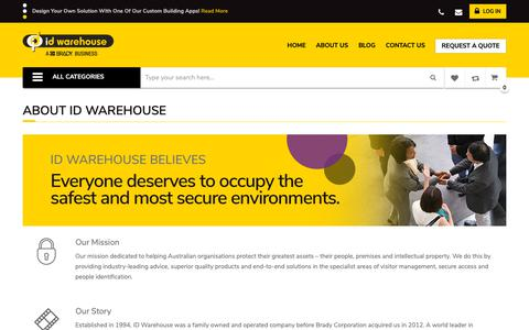 Screenshot of About Page idwarehouse.com.au - About ID Warehouse - captured Nov. 4, 2018