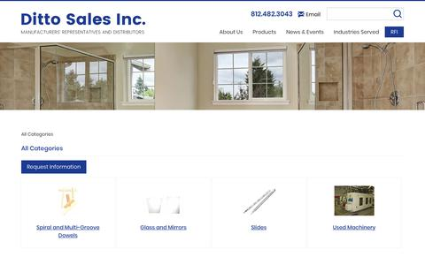 Screenshot of Products Page dittosales.com - All Categories On Ditto Sales, Inc. - captured Oct. 9, 2018