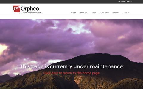 Screenshot of Support Page orpheogroup.com - Maintenance - Orpheogroup - captured Oct. 20, 2017