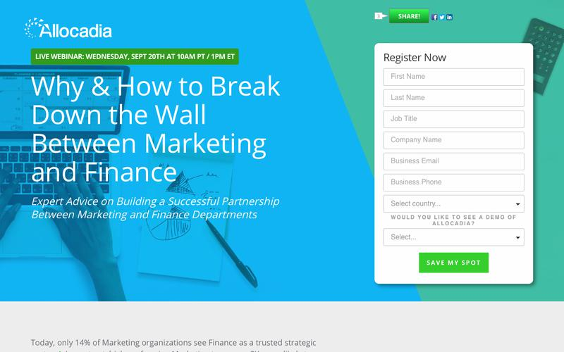 Webinar: Why & How to Break Down the Wall Between Marketing and Finance