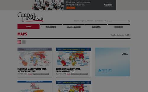 Screenshot of Maps & Directions Page gfmag.com - Maps | Global Finance Magazine - captured Sept. 23, 2014