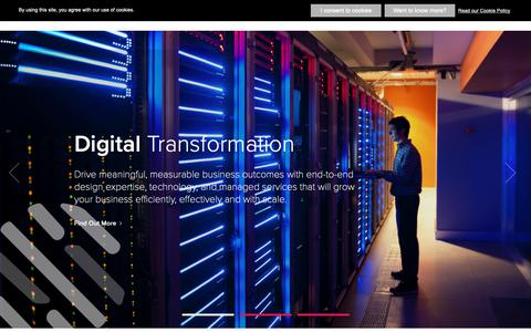 Screenshot of Home Page sutherlandglobal.com - Digital Transformation & Business Process Services  - Sutherland - captured March 16, 2019