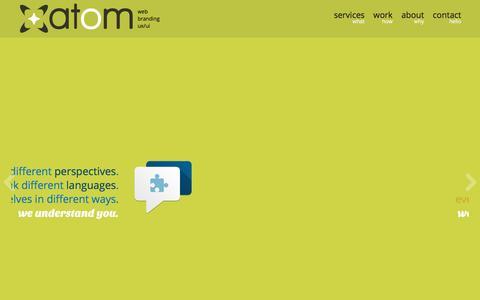 Screenshot of Home Page atom.com.gt - Atom - Guatemala :: Web design, development, branding & ux/ui - captured Feb. 6, 2016