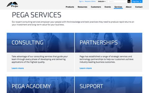 Screenshot of Services Page pega.com - Services that Maximize the Value of Your Pega Solution Pega - captured March 28, 2017