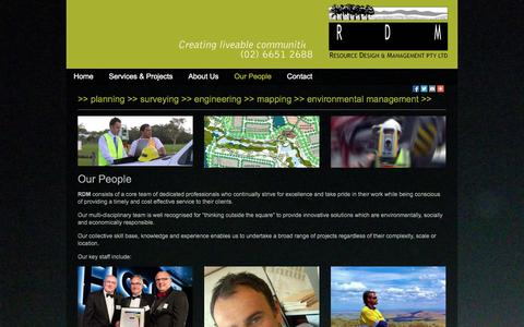 Screenshot of Team Page resdesmannsw.com.au - Surveying services Coffs Harbour – Resource Design & Management Pty Ltd - captured Nov. 5, 2014