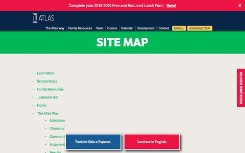 Screenshot of Site Map Page atlasprep.org - Site Map - Atlas Preparatory - captured Oct. 4, 2018