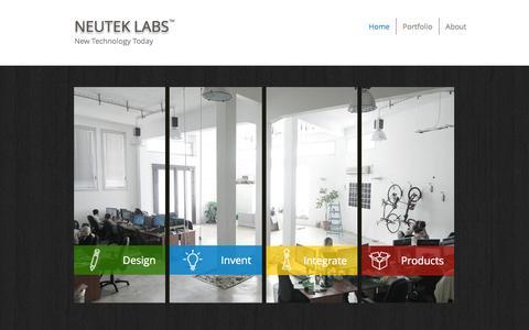 Screenshot of Home Page neuteklabs.com - Neutek Labs - captured Oct. 6, 2014