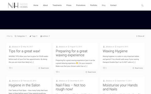 Screenshot of Blog justbeauty.co - Nails & Beauty Blog - Just Beauty's Blog about Health and Beauty - captured July 13, 2018