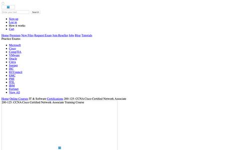 Screenshot of Products Page aessystems.com - 200-125: CCNA Cisco Certified Network Associate Exam - Certification Training Course - captured Oct. 2, 2018