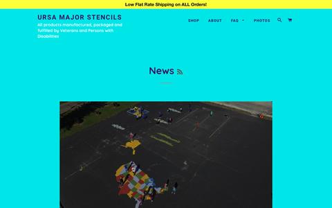 Screenshot of Press Page ursamajorstencils.com - News – Ursa Major Stencils - captured Feb. 12, 2018