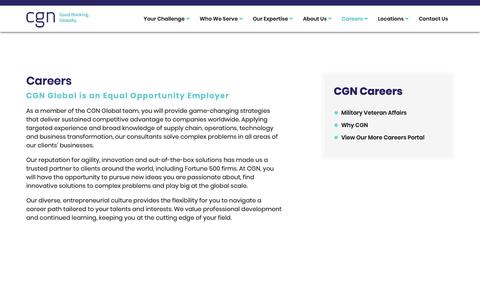 Screenshot of Jobs Page cgnglobal.com - Careers - captured Feb. 9, 2019