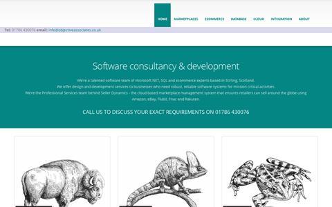 Screenshot of Home Page objectiveassociates.co.uk - microsoft.NET, SQL, ecommerce, marketplace consultancy Scotland - captured Dec. 19, 2016