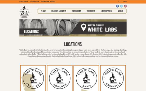 Screenshot of Locations Page whitelabs.com - Locations   White Labs - captured June 27, 2017