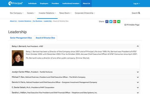 Principal Financial Group Inc - Board of Director Bios